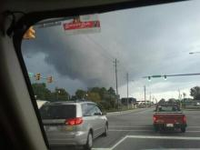 The remnants of Tropical Storm Lee hit a cold front in North Carolina on Tuesday, Sept. 6, 2011, spawning reports of tornadoes and heavy rain.