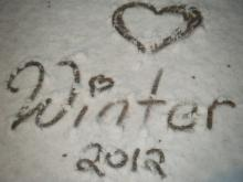 Snow flurries swept central North Carolina on Feb. 19, 2012.