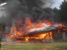 The Clayton Fire Department did a controlled burn at an abandoned building on Saturday, June 2, 2012.