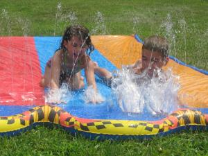 Staying cool on the Slip-n-slide