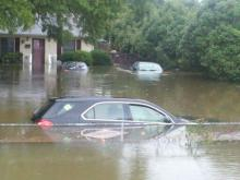Roanoke Rapids Flas Flood Car Submerged