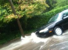 flooding in Historic Oakwood