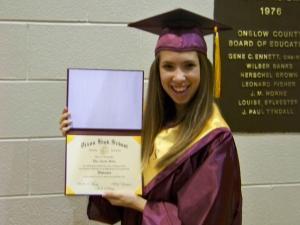 Ellen Helms Graduates from Dixon High School Class of 2013