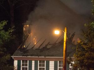 House fire in Apex NC, Brittney Trace subdivision. No injuries. Owners were not home.