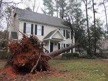 More than 2,100 customers in Wake, Chatham and Lee counties remain without power Sunday morning after powerful storms rolled through central North Carolina on Saturday, causing power outages, significant wind damage and the death of one person.