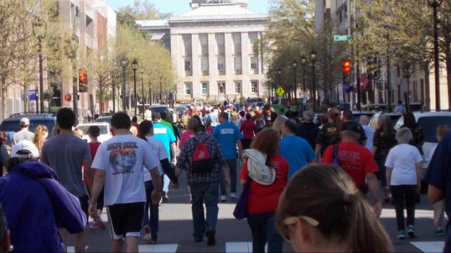 What a gorgeous day to have the 2014 Walk to Defeat ALS in Downtown Raleigh, NC. (Photo by Laurie McCabe)