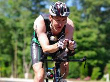 Along Lake Wheeler Road in Raleigh, cyclists finished the middle leg of the Ironman triathlon June 1, 2014.