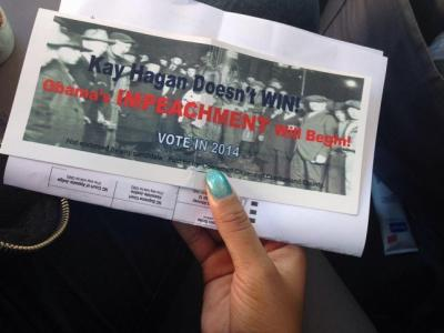 Voter Intimidation flyer