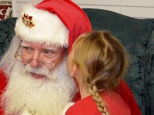 Elsa visits Santa Nick