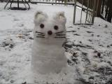 Snowman / Hello Kitty in Henderson this mornong