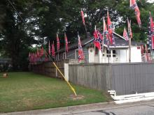 This is what I have to deal with everyday...this neighbor has put more up since the SC church killings...