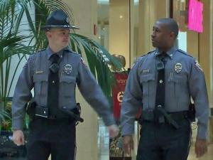 Crabtree Valley Mall in Raleigh has a dedicated police force on site, with 26 sworn officers.