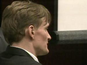 Jason Young sits in a Wake County courtroom on June 17, 2011, during his first-degree murder trial.