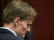 Jason Young sits in a Wake County courtroom on June 27, 2011, as jurors deliberate in his first-degree murder trial.