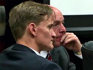 Jason Young sits during closing aruments on March 1, 2012, in his first-degree murder trial.