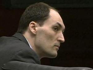 Brad Cooper during his first-degree murder trial on April 25, 2011.