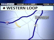 Map of Western Henderson Loop highway