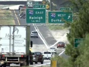 Some motorists say the new N.C. 540 is causing long lines on the I-540 exit ramp to Interstate 40.
