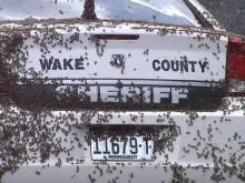 A Wake County sheriff's deputy found himself in the middle of a swarm of bees Tuesday when he went to check on a report of a disabled trucknear the Smithfield Road exit off U.S. Highway 64.