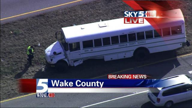 A Franklin County activity bus was in an accident Friday. Seven students suffered minor injuries, police said.