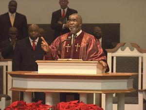 Rev. Daniel Sanders leads Springfield Baptist Church on Auburn-Knightdale Road in Raleigh. The church owns 40 acres of property there, and plans to build a multi-purpose family center, a K-12 school and affordable housing for people in need, Sanders said.