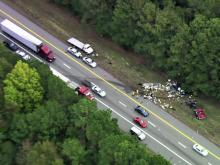 Sky 5: Wreck closes lanes on I-95S