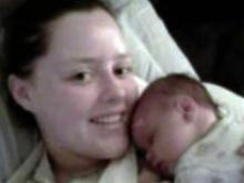 Terri Lynn Reeves after the birth of her daughter, Shelby Witherspoon (Photo from Facebook)
