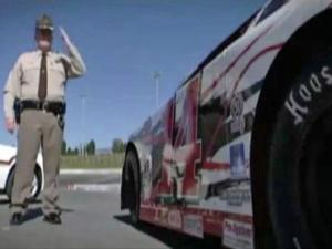 """Local deputies and NASCAR drivers teamed up to do a public-service announcement for the  annual """"Click It or Ticket"""" campaign, during which troopers and local law enforcement crack down on drivers not wearing their seat belts."""