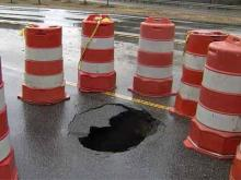 Sinkhole shuts down Fayetteville road for weeks