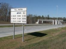 Triangle Expressway toll road sign