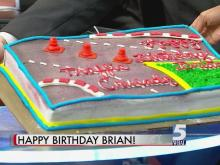 Brian Shrader gets a birthday surprise