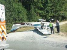Plane flips on landing at Apex strip