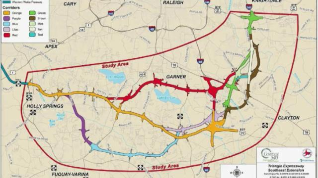 The state Department of Transportation is studying several possible routes for N.C. Highway 540 in southern and southeastern Wake County.