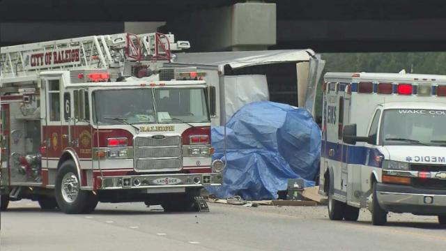 A man died early Wednesday after he lost control of his box truck on Interstate 540 West and crashed into the westbound lanes of Glenwood Avenue (U.S. Highway 70), Raleigh police said.
