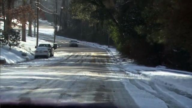 Icy Fayetteville road