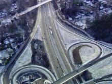 Sky 5 over slick roads