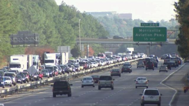 Highway traffic, traffic congestion, traffic jam, I-40 traffic