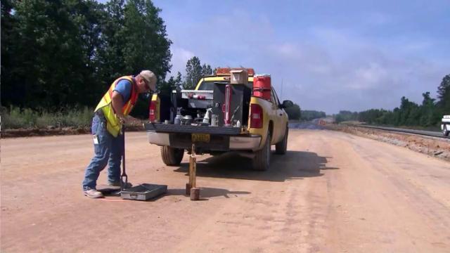 Rolesville bypass construction