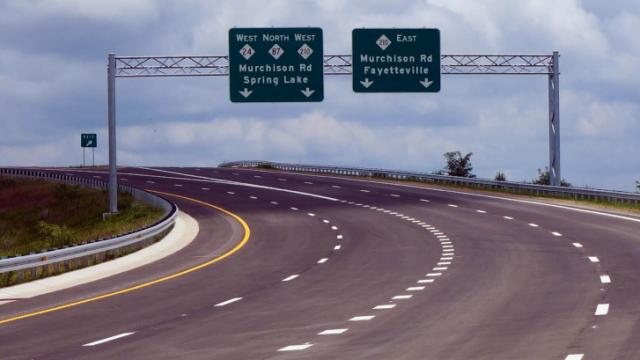 Section of Interstate 295 in Fayetteville