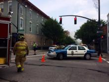 Raw: Downtown Raleigh intersection closed