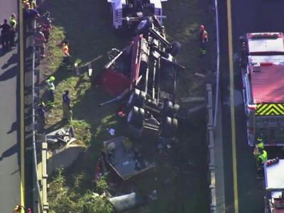 Wreck shuts down I-85 in Orange County