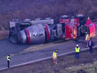 Truck accident blocks NC 54 in Morrisville