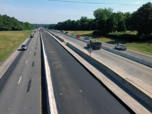 As crews finish paving two of four lanes on Interstate 440 West, they will shift traffic and allow cars to travel on the newly paved section of the highway.