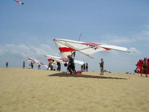 Photo by: Wayne Gray. Hang Glide and Fly Kites at Jockey's Ridge