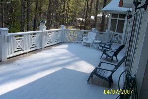 Lake Gaston was among a number of places that received a light dusting of snow Saturday morning. (Photo courtesy of Keith Weaver)