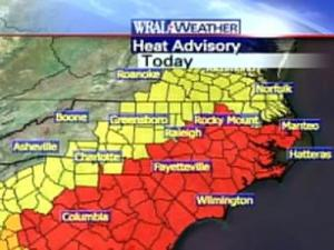 Heat advisories and excessive heat warnings have been issued for dozens of counties across central North Carolina.