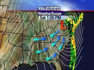 WeatherScope Prediction for 1pm Saturday
