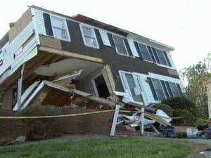 The tornado hit Forsyth County with gusts that reached 140 mph.