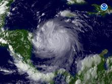 Hurricane Felix, a Category 5 storm, bears down on Central America. (Courtesy: NOAA)