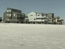 Some homes on Topsail Island have been condemned because beach erosion threatens their structural integrity.